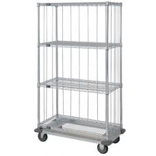 4 Wire Shelf Dolly Base Cart