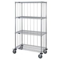4 Wire Shelf Caster Cart