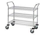 WRSC-1836-3 Stainless 3-Shelf Wire Utility Cart