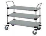 WRSC-1836-3SS Stainless Solid 3-Shelf Utility Cart